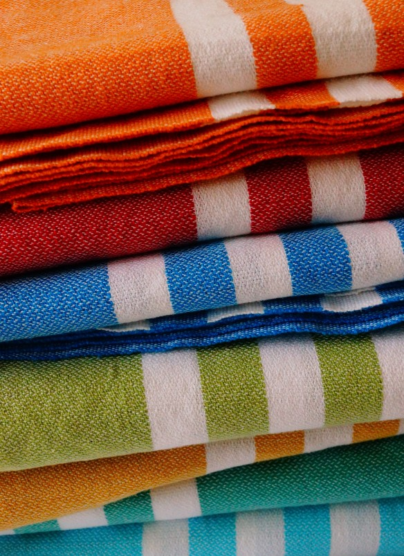 100% raw organic cotton towels