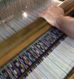 weaving looped blue